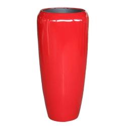 Pflanzgefäß Vase hochglanz rot für innen und außen