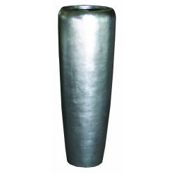 Pflanzgefäß Vase glänzend silber