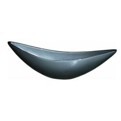 Pflanzgefäß Schiffchen Dekoschale silber 90x17 cm
