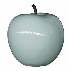 Deko Apfel weiß mit Stengel