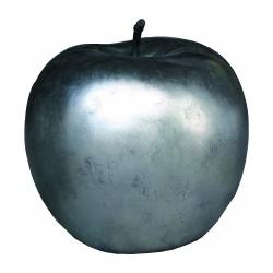 Deko Apfel silber mit Stengel