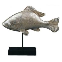Fisch-Statue auf Ständer 22x7x26cm
