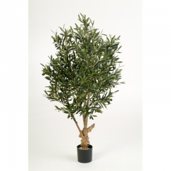 Kunstpflanze Natural Olive Twisted Tree Textilpflanze 150 cm
