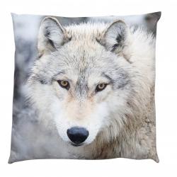 Kissen mit Fotoprint Wolf