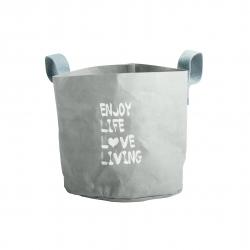 Body & Soul Aufbewahrungstasche Enjoy Life Love Living von Walra aus abwaschbarem Papier
