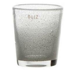 Elegante Glasvase von Dutz transparent mit Lufteinschluss H 14 cm