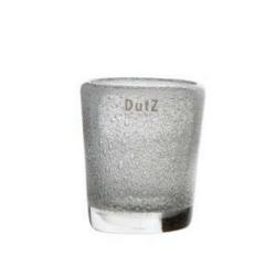Elegante Glasvase von Dutz transparent mit Lufteinschluss H 11 cm