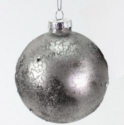 Weihnachtskugel antiksilber
