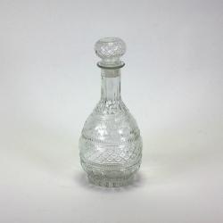 Glasflacon mit Kristallverzierung und Verschluss