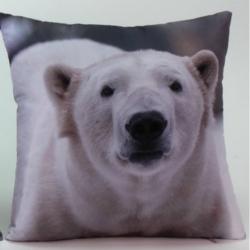 Kissen mit Fotoprint Eisbär
