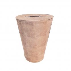 Wäschebox hochwertig Höhe 55 cm Durchmesser 40,5 cm konische Form