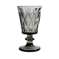 Weißweinglas in grau opulent im Kristall-Look von NORDAL