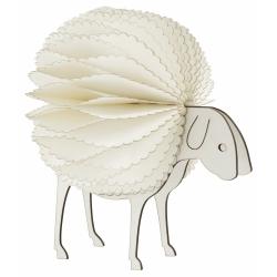 Figur Kleines Schaf von NORDAL 15 cm weiß