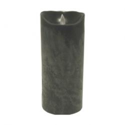 LED Echtwachs-Kerze Sompex batteriebetrieben grau