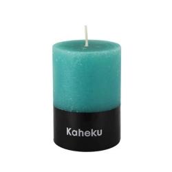 Kaheku-Kerze Cylinderkerze Leuchterkerze Kerze türkis 15 cm