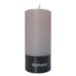 Kaheku-Kerze Cylinderkerze grau 15 cm