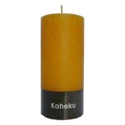 Kaheku-Kerze Cylinderkerze Leuchterkerze Kerze senf gold 15 cm