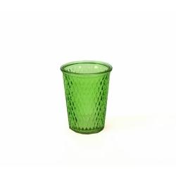 Glaswindlicht mit Rautenmuster grün 12,5 cm