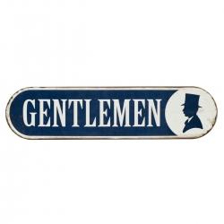 Metallschild Gentleman von Nordal Toilettenschild Schild WC