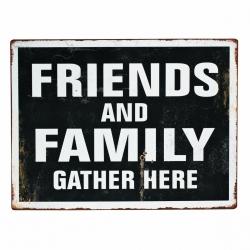 Metallschild Friends & Family von Nordal Deko-Schild Freunde Familie