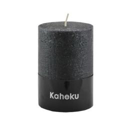 Kaheku-Kerze Cylinderkerze schwarz 10 cm
