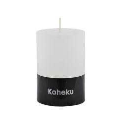 Kaheku-Kerze Cylinderkerze weiß 10 cm