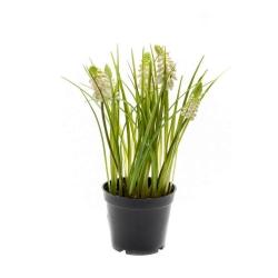 Kunstblume Trauben-Hyazinthe cremefarben weiß im Topf