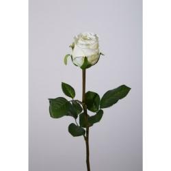 Kunstblume Rose einzeln cremefarben weiß
