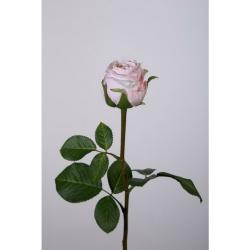 Kunstblume Rose einzeln hellrosa, rosé