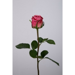 Kunstblume Rose einzeln rosa violett