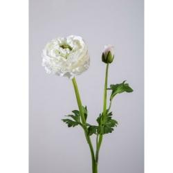 Kunstblume Ranunkel einzeln cremefarben weiß