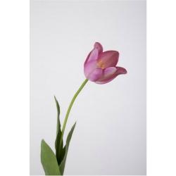 Kunstblume Tulpe einzeln rosa violett