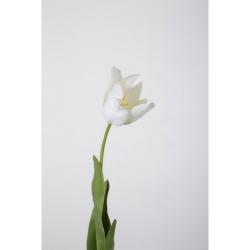 Kunstblume Tulpe einzeln cremefarben weiß