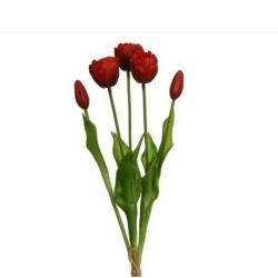 Kunstblume Tulpe im Bund Rot 44 cm