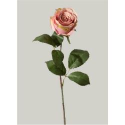 Kunstblume Rose einzeln altrosa, rosé