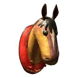 Pferdekopf Garderobe 3 Haken Wanddekoration Pferd