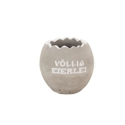 Beton-Ei zum Bepflanzen Osterei Deko mit Spruch Völlig Eierlei