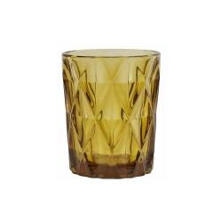 Trinkglas in gold-gelb im Kristall-Look von NORDAL amber