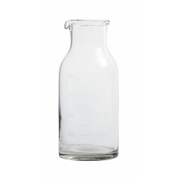 Dressing-Flasche von Nordal Glasflasche mit ml-Tabelle und Ausguss 400 ml