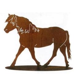 Gartenfigur Pferd, Edelrost 50 cm x 65 cm