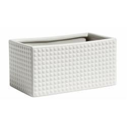 Aufbewahrungsbox Container aus Keramik von Nordal creme 14x7x8cm