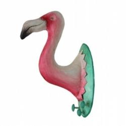 Flamingo Garderobe 3 Haken Wanddekoration Flamingokopf Trophäe