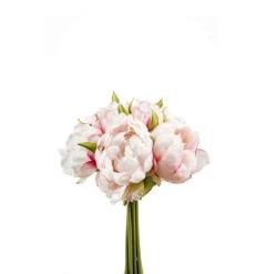 Kunstblume Pfingstrosen Strauß hellrosa rosé 8 Blüten