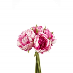 Kunstblume Pfingstrosen Strauß rosa fuchsia 8 Blüten