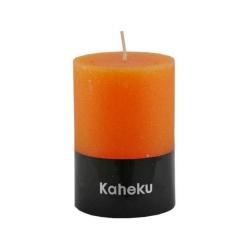 Kaheku-Kerze Cylinderkerze Farbe Feuer orange 10 cm