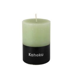 Kaheku-Kerze Cylinderkerze Farbe Salbei Hellgrün 10 cm
