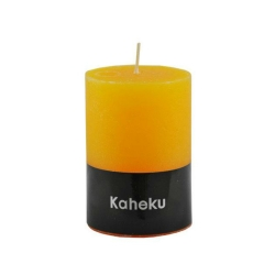 Kaheku-Kerze Cylinderkerze Farbe Gelb Senfgelb 10 cm
