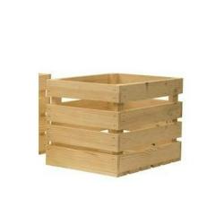 Holzkiste natur kleine Retro Kiste aus leichtem Holz Obstkiste