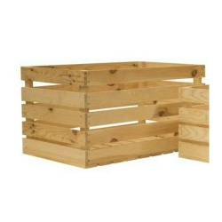 Holzkiste natur große Retro Kiste aus leichtem Holz Obstkiste