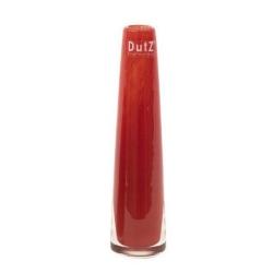 Dutz Vase rot 21 cm kleine Glasvase Solifleur